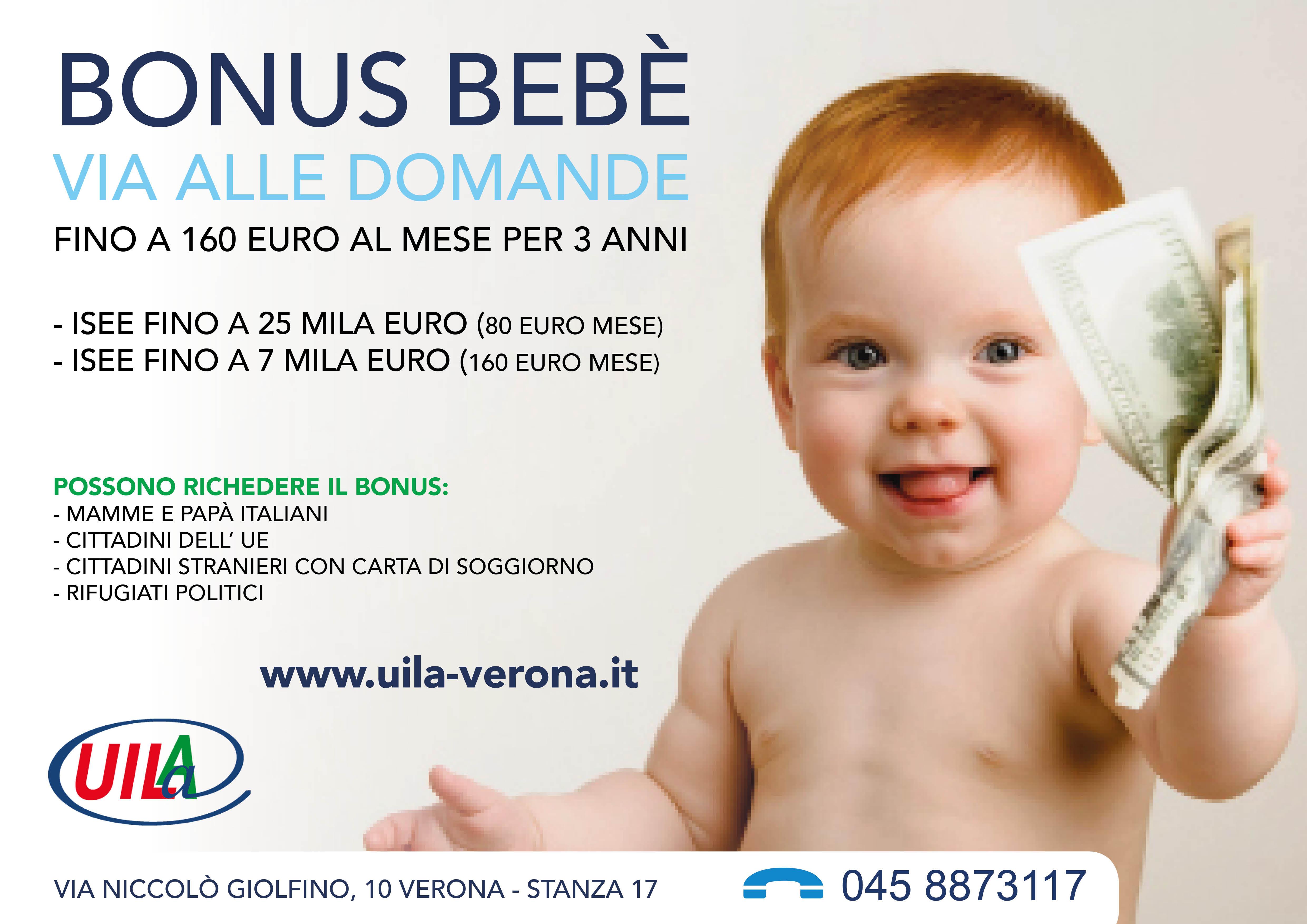 Bonus bebè, anche per il 2016. Fino a 160 euro al mese per tre anni ...
