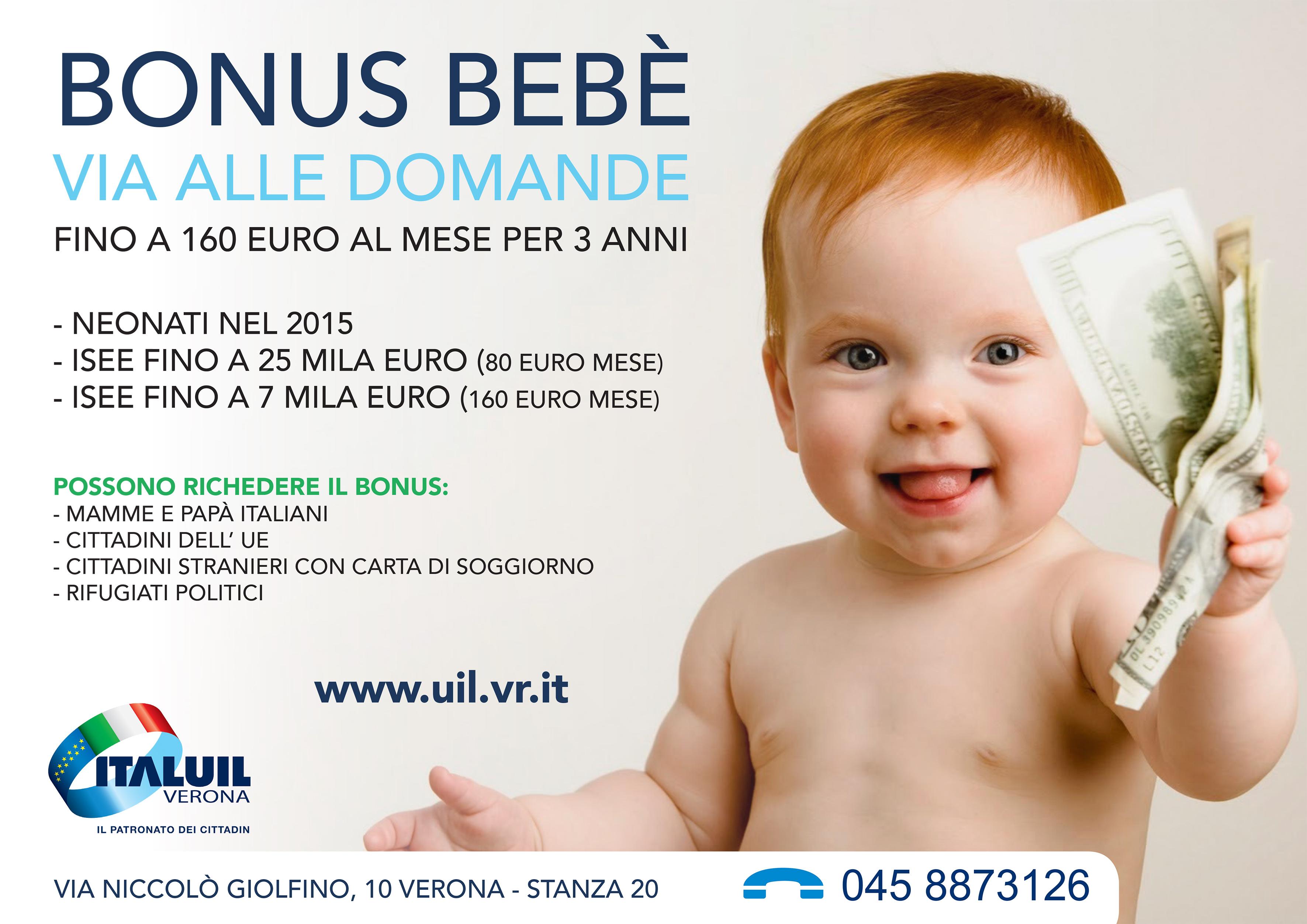 Bonus bebè, via alle domande. Fino a 160 euro al mese per tre anni ...